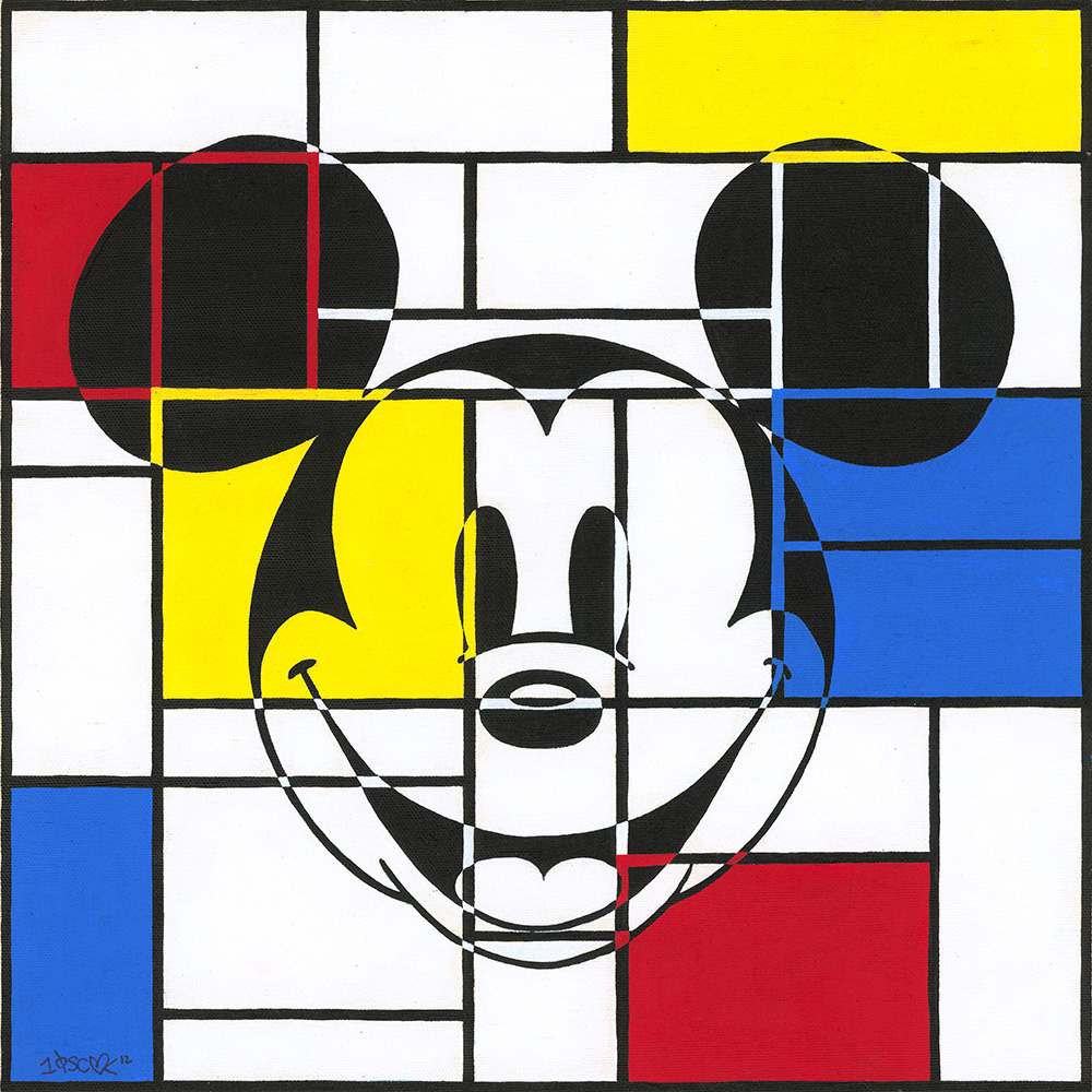 Disney Original Art - Mondrian Mickey